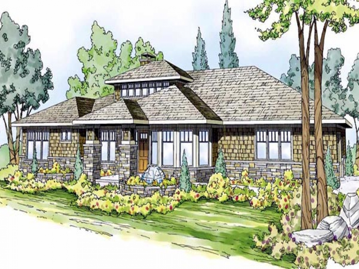 Ranch style house plans prairie style ranch house plans for Prairie style ranch