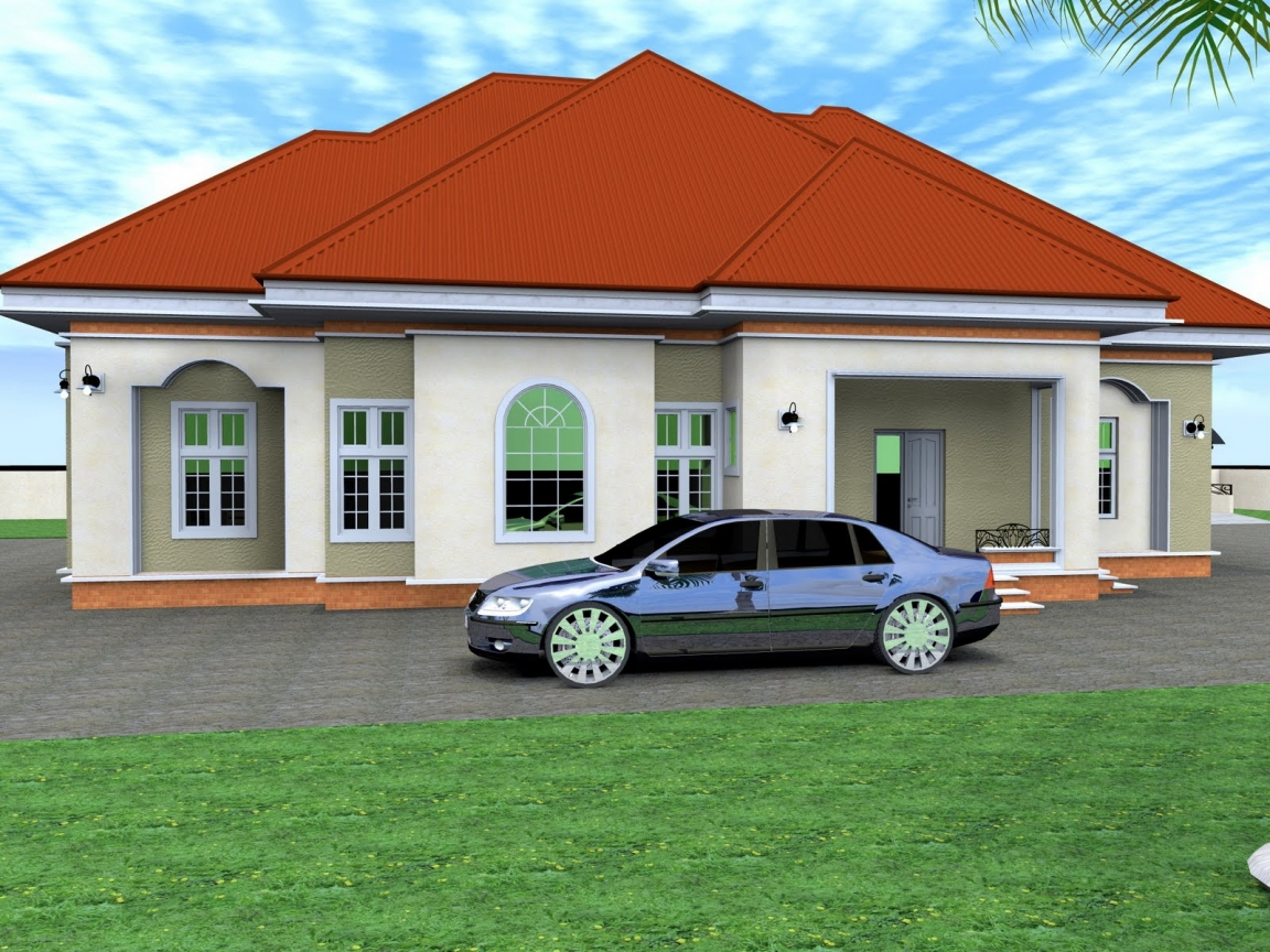 4 bedroom detached house 4 bedroom bungalow house plans for Four bedroom bungalow