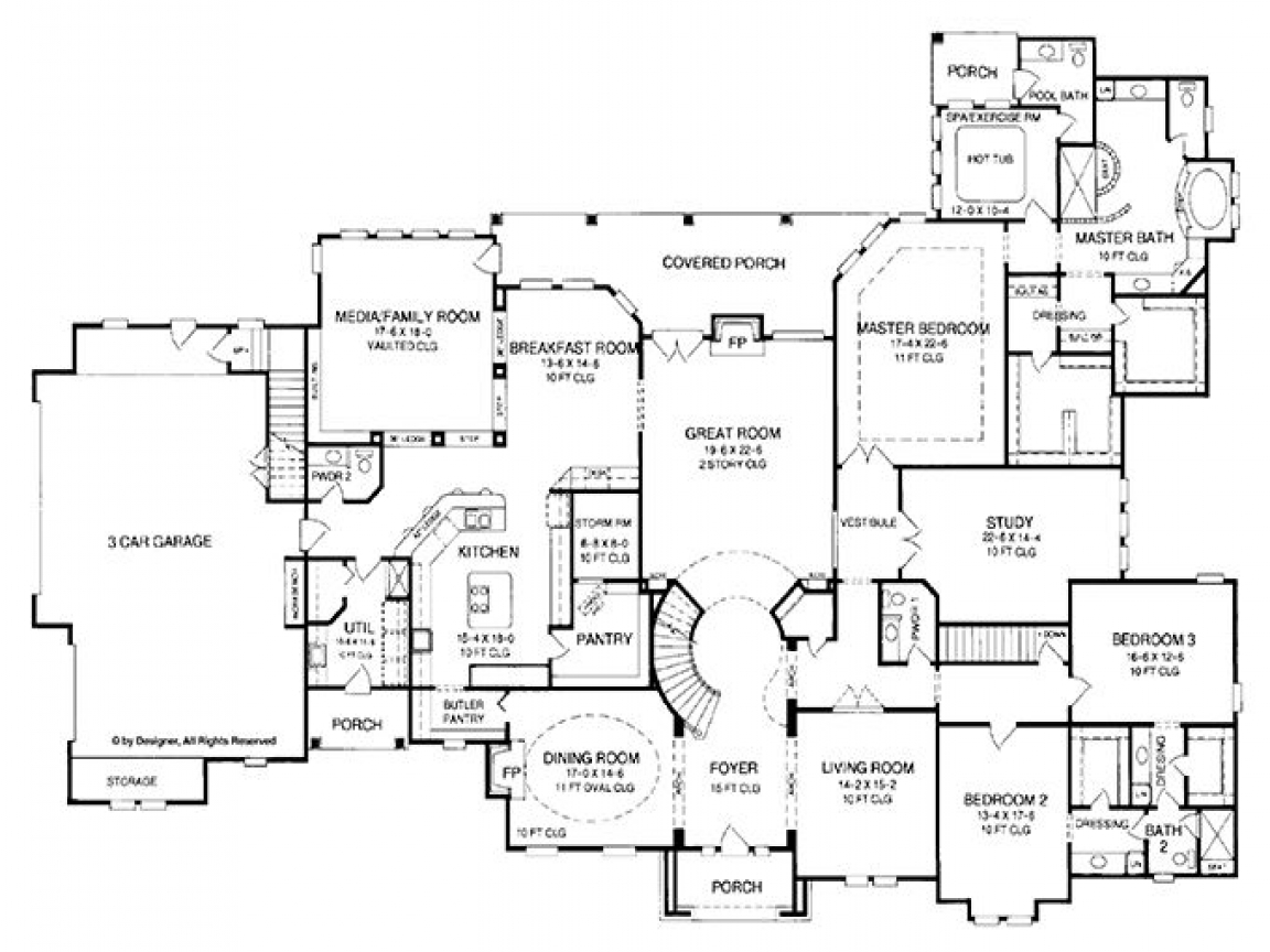 5 bedroom house floor plans 2 story 4 bedroom house one for 5 bedroom ranch floor plans