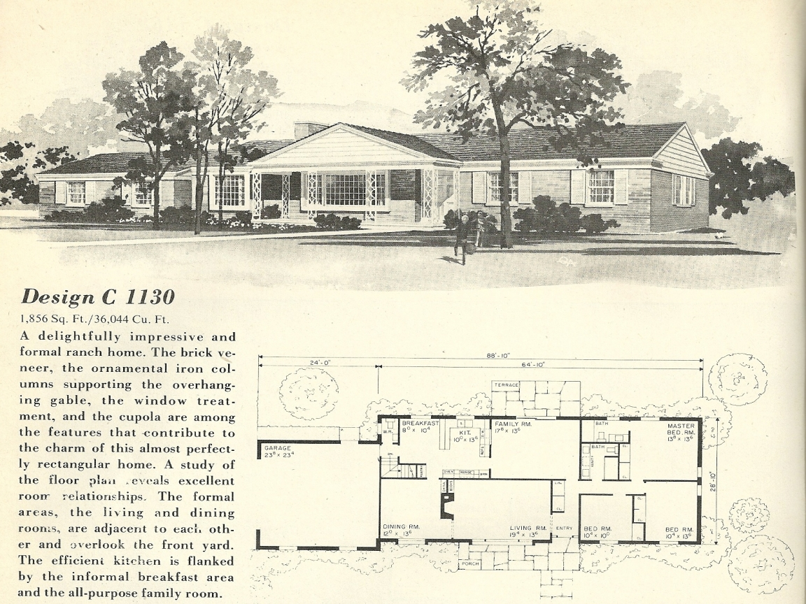 California ranch style homes 1960s ranch house floor plans for California ranch floor plans