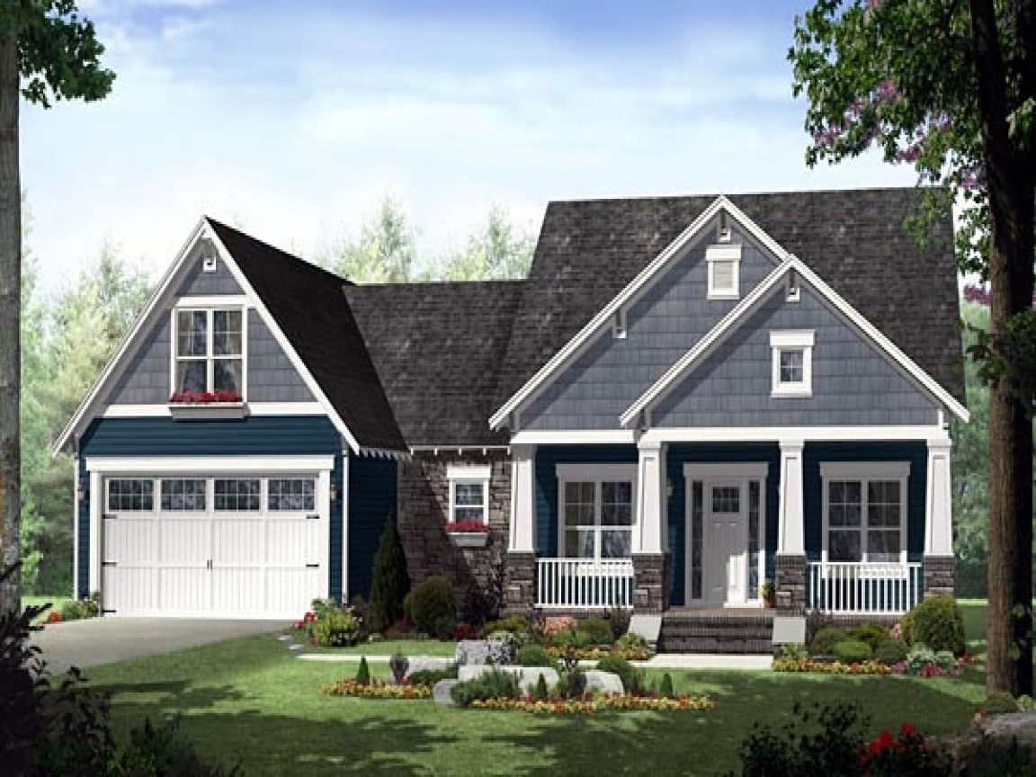 Country craftsman style house plans craftsman traditional for Traditional style house plans