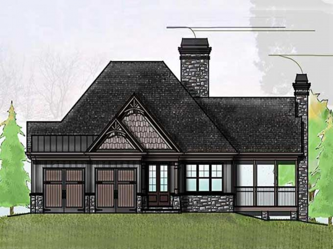 Craftsman one story house one story cottage house plans for Single story craftsman bungalow house plans