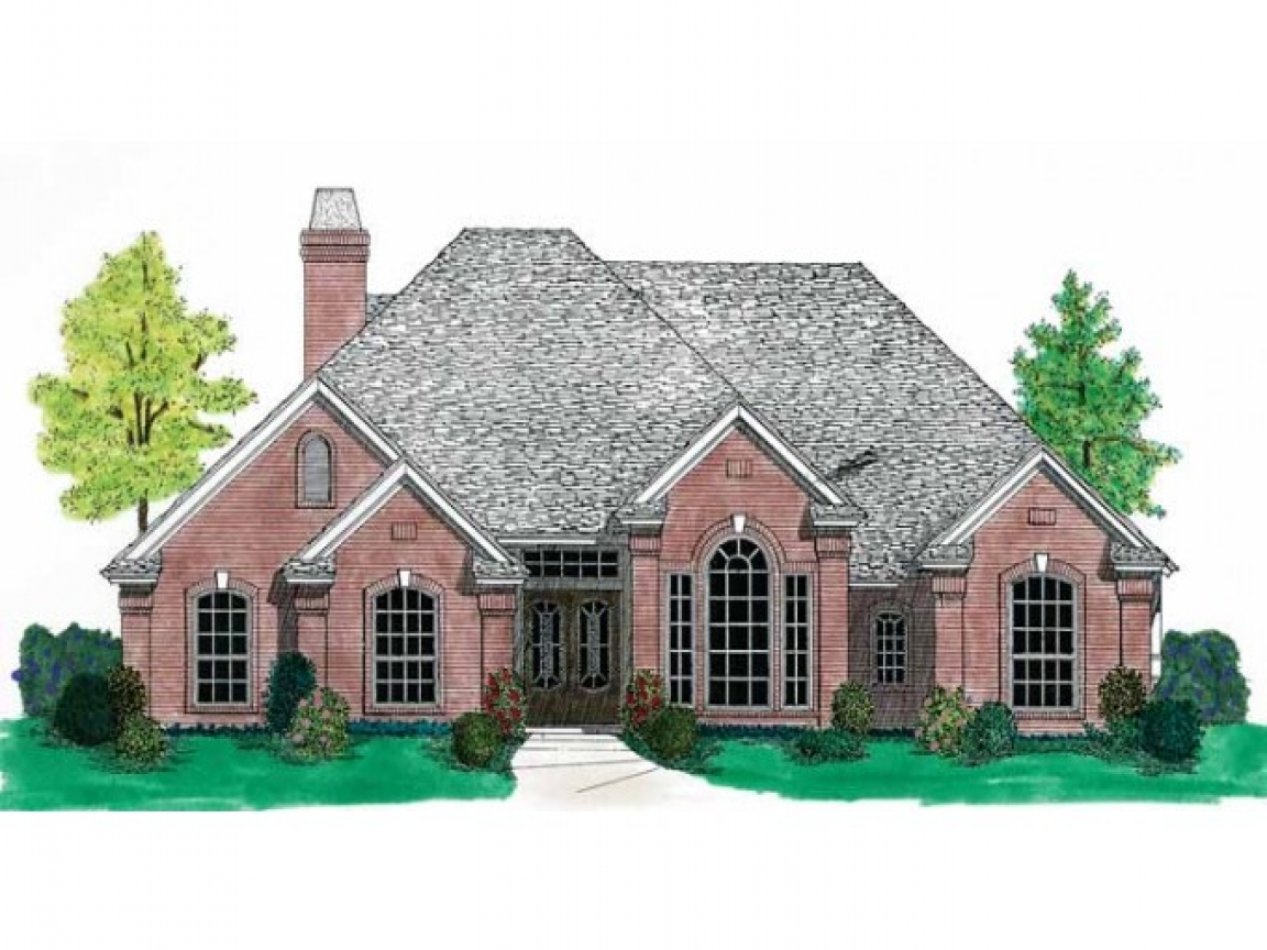 French country house plans one story country cottage house for Single story french country house plans