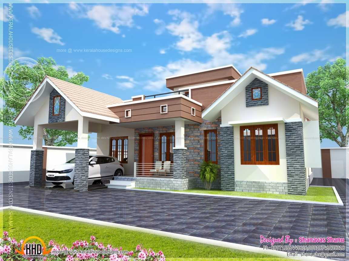 Bungalow House Front Elevation : Small house elevation design cottage front