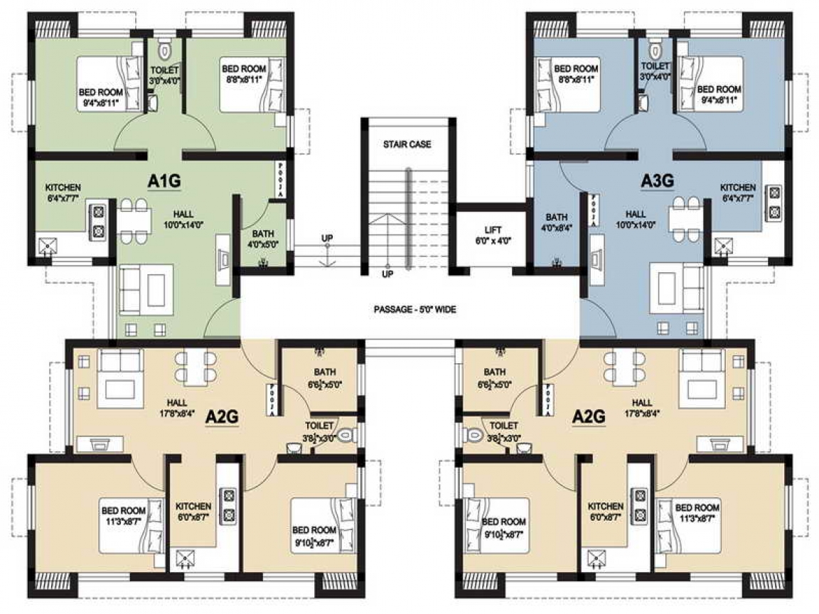 Small house floor plans with stair small two bedroom house for 15 bedroom house plans