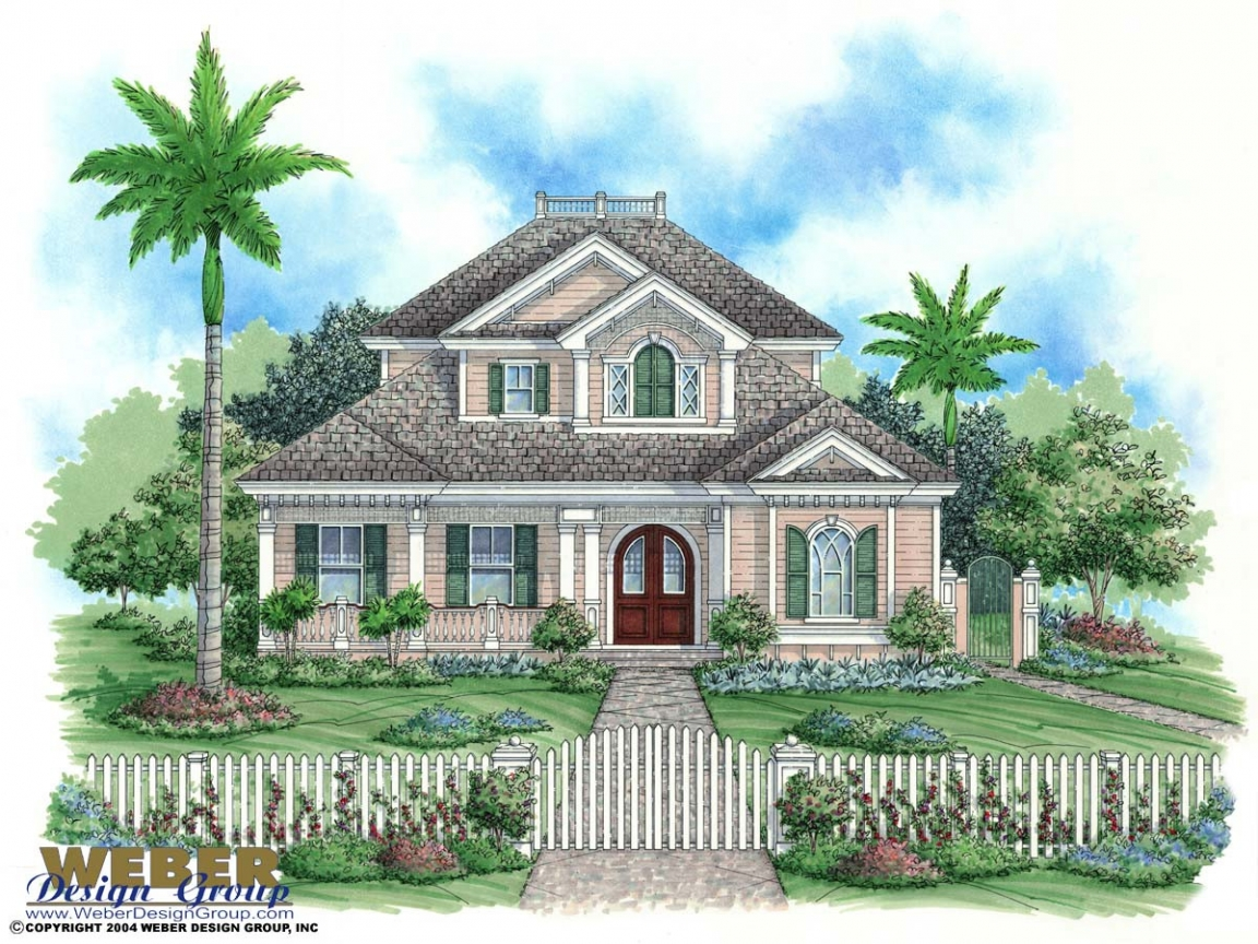 Key west home design plans key west house plan florida for Key west style home plans