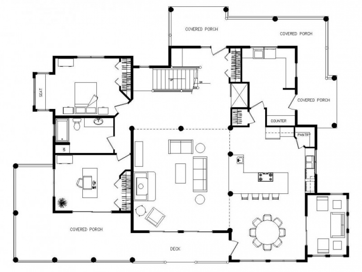 Multi level house plans multi level house floor plans Simple log home floor plans