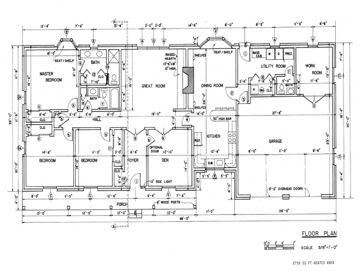 Ranch house floor plans ranch house floor plans with for Ranch house floor plans with basement