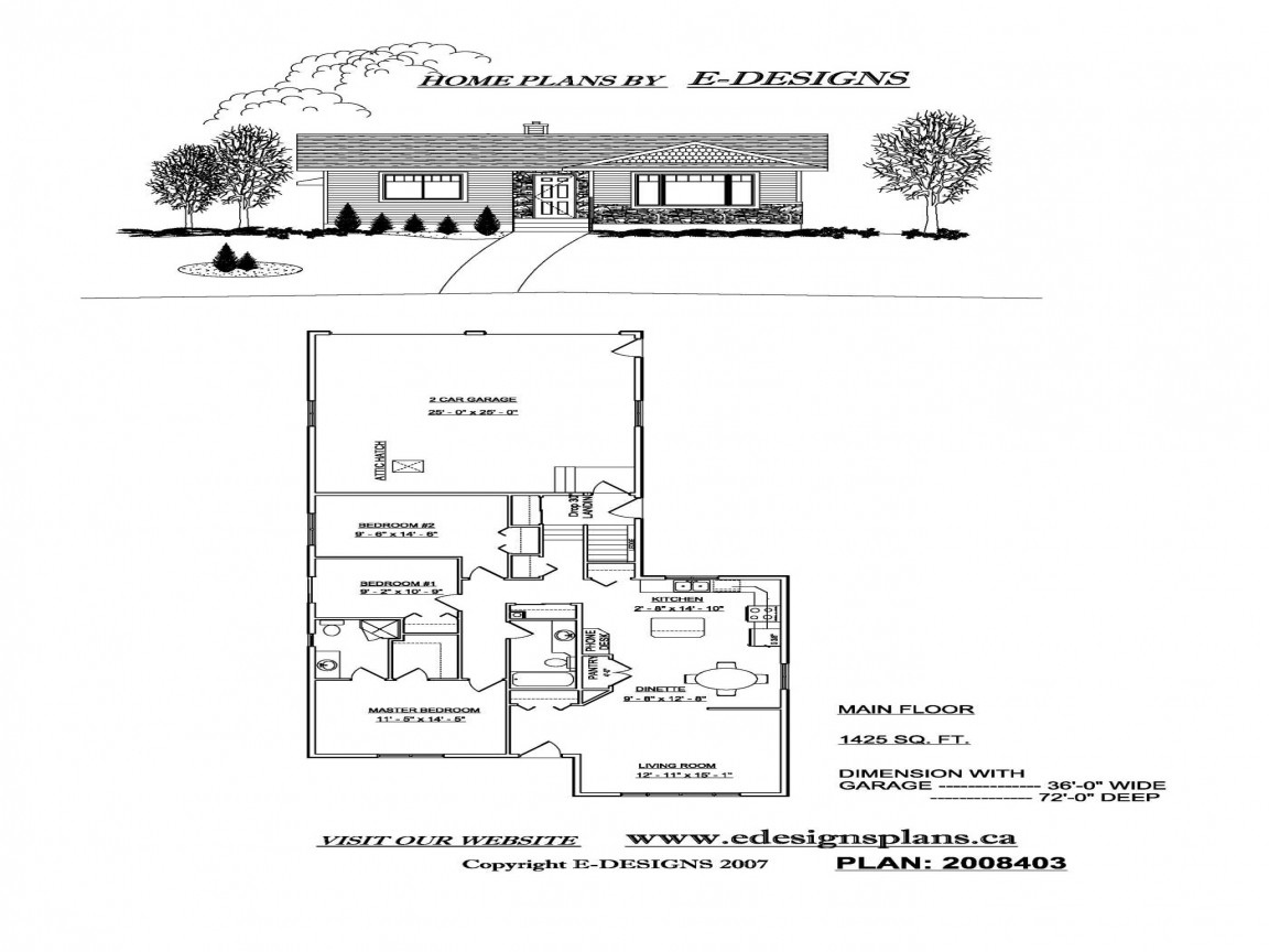 Small House Floor Plans With Attached Garage Very Small