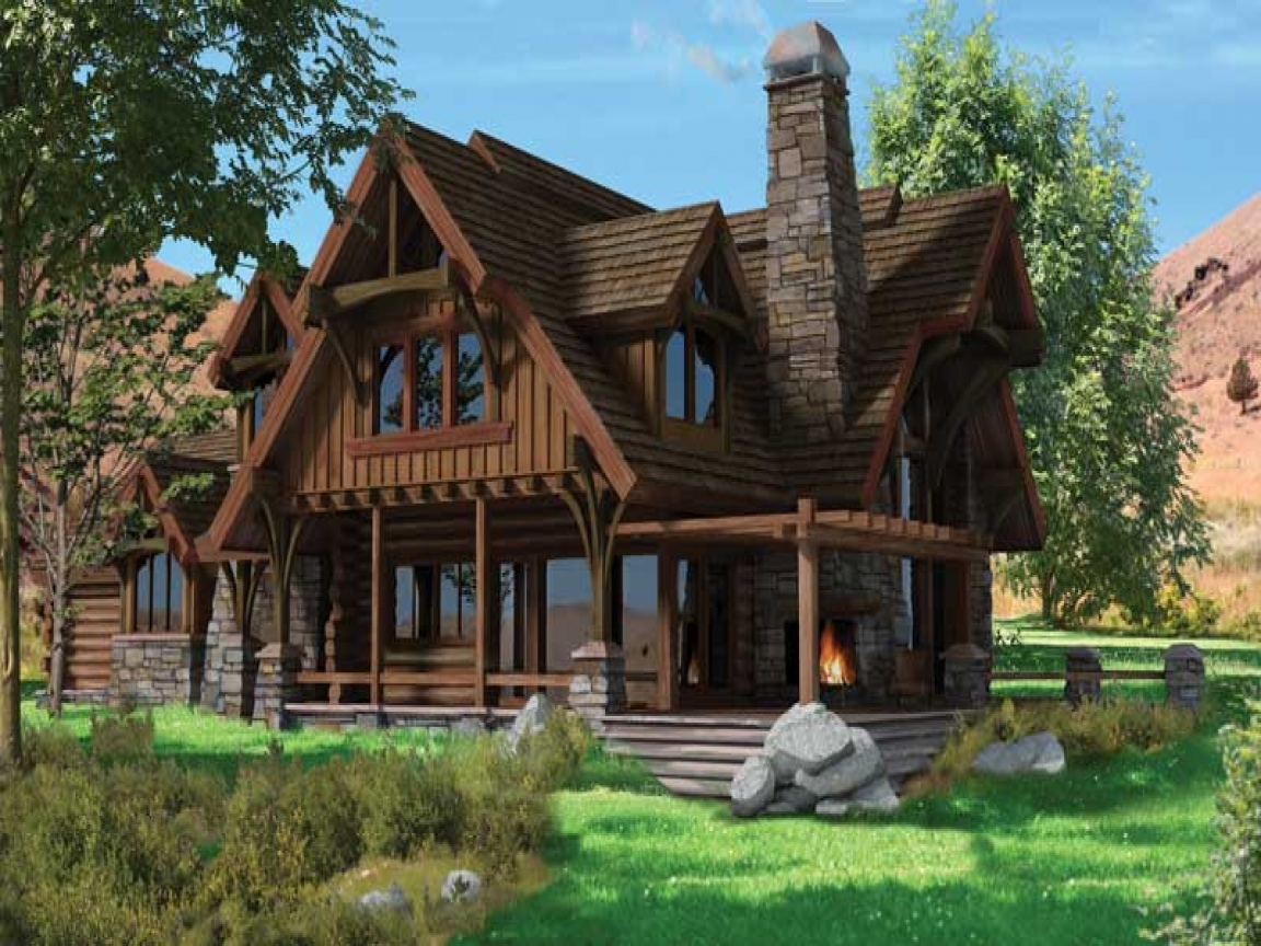 Bavarian chalet style homes chalet style log home plans for Chalet style homes with attached garage