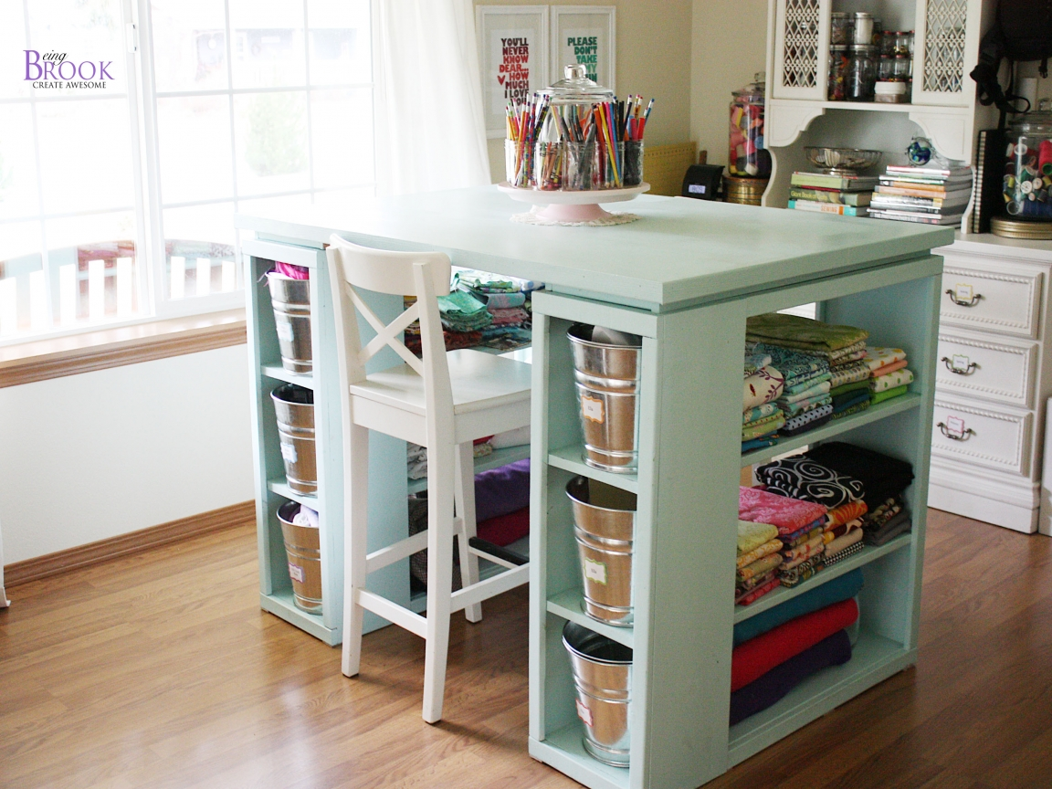 Craft room tables modern craft table modern arts and for House plans with craft room