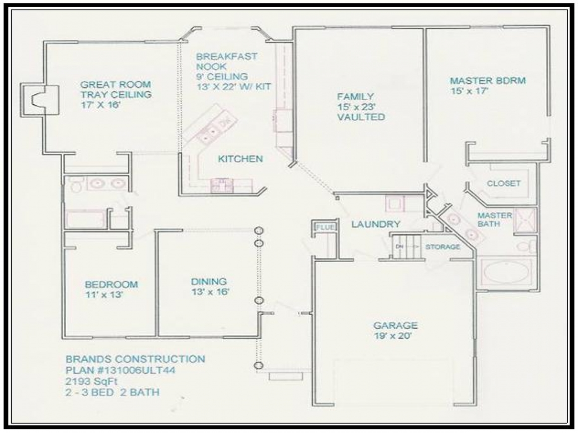 Free home floor plans 4 bedrooms free house floor plans - Design your own house online free ...