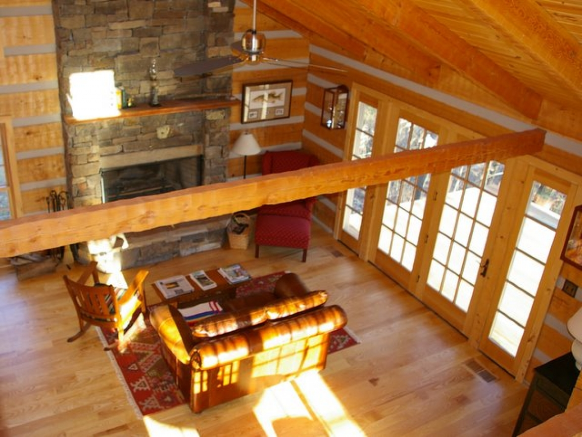 Inside a pioneer log cabin log cabin hardwood floors log for How to build a cabin floor