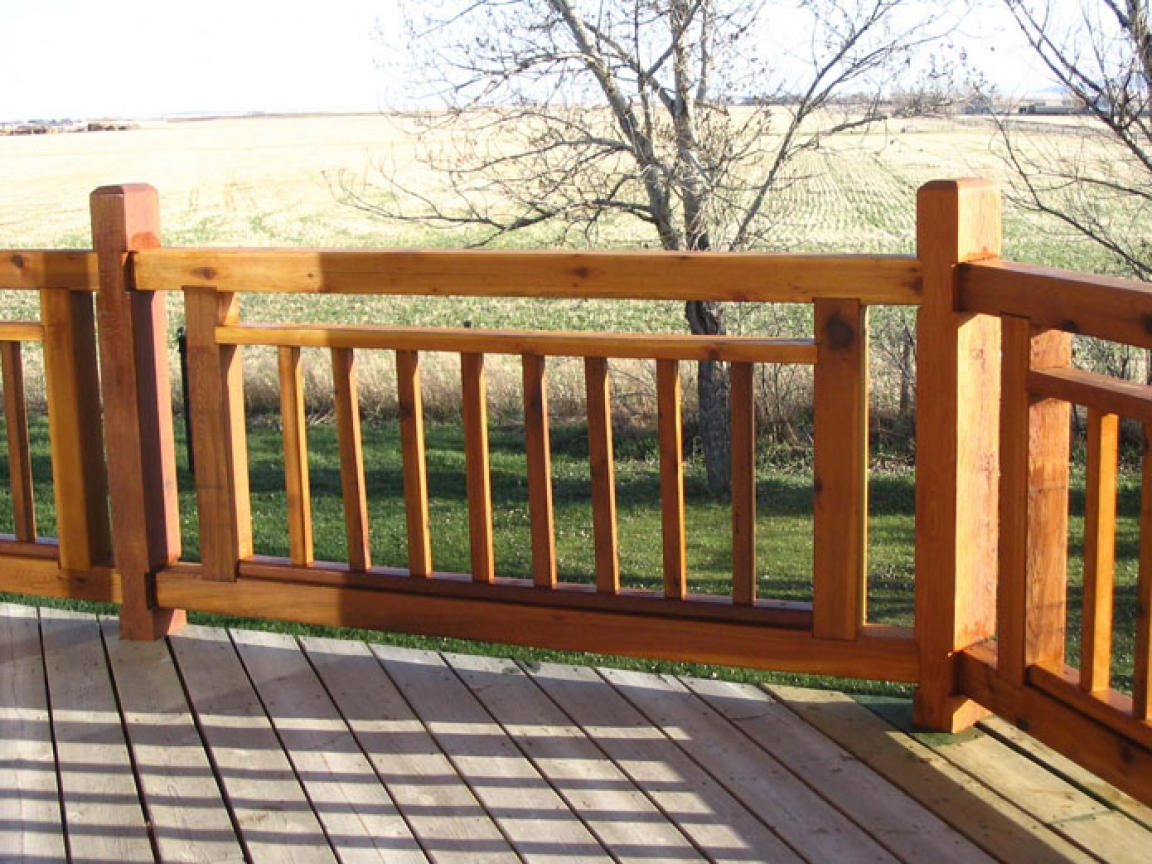 Simple deck railing designs deck railing designs cabin for 6 metre lengths of decking