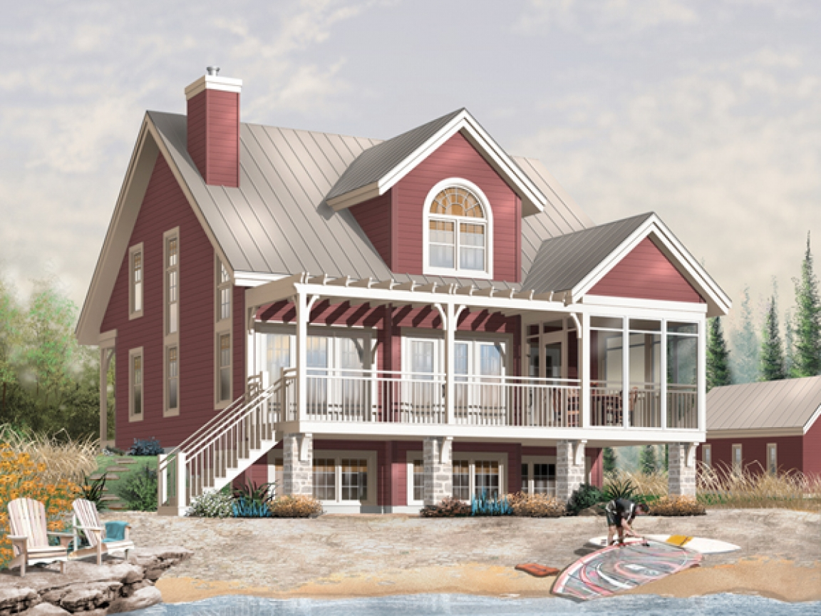 Small lakefront home plans small waterfront home designs for Lakefront modular home plans