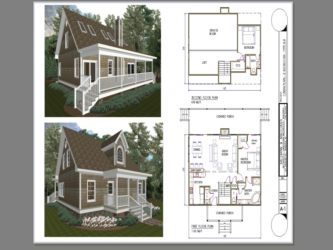 Tiny house plans 2 bedroom 2 bedroom cabin plans with loft for Two bedroom cabin plans