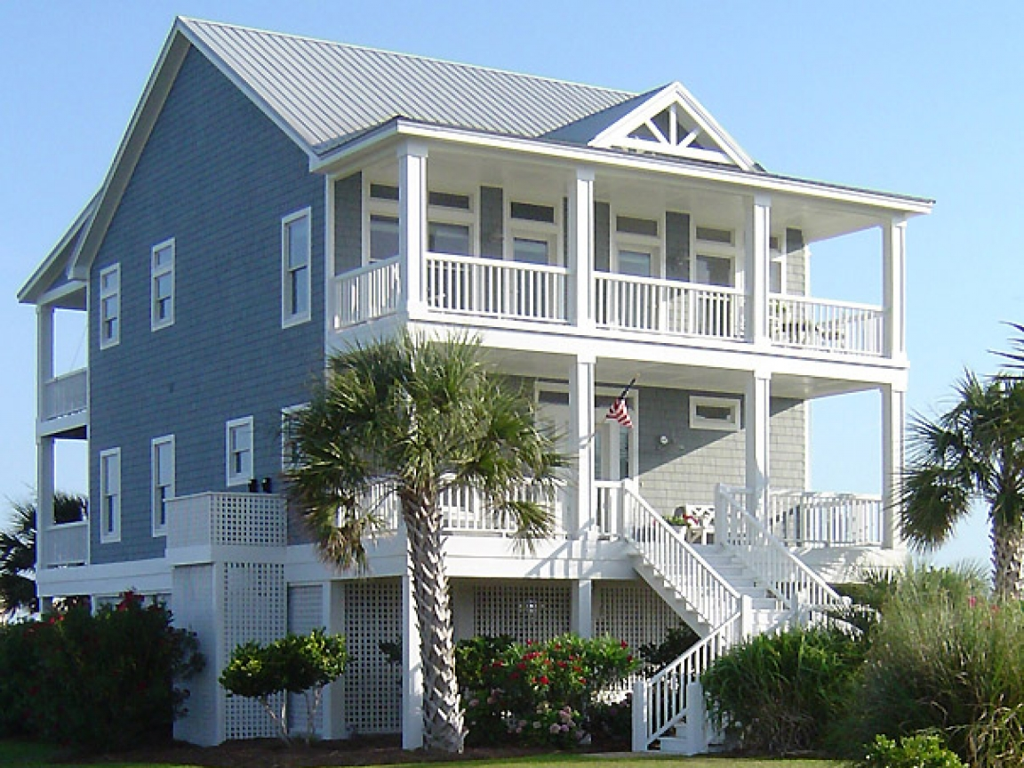 Beach house plans on pilings beach cottage house plans on for Beach house designs on pilings