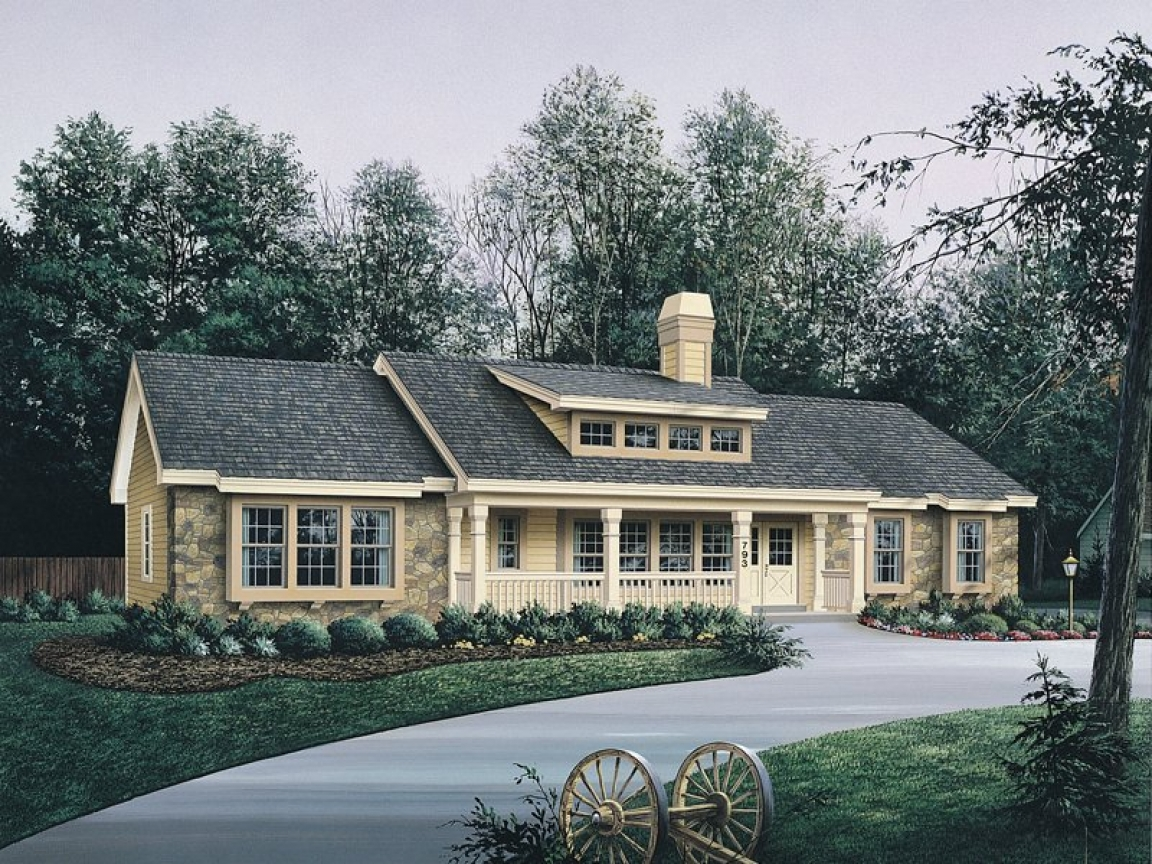 Bungalow house plans with garage bungalow house plans with for Country bungalow house plans