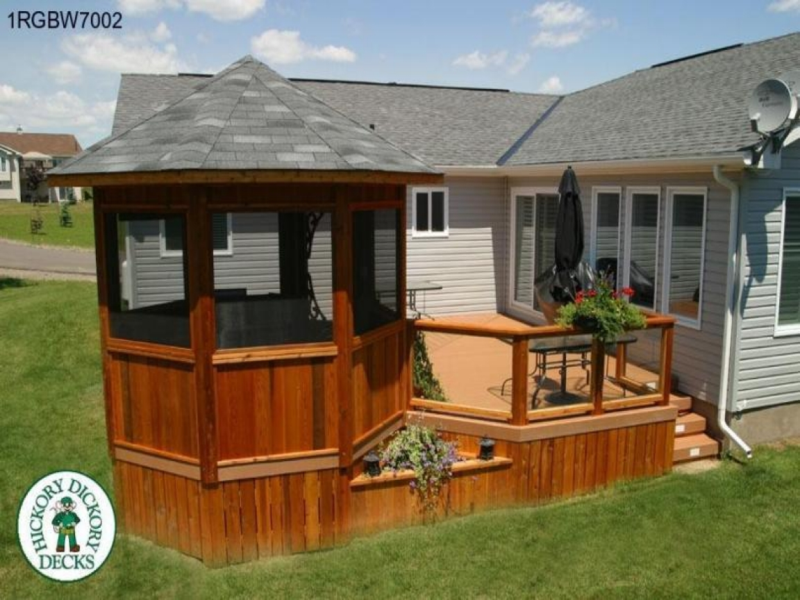 Deck with gazebo designs gazebos 0n decks deck levels for Decks and gazebos