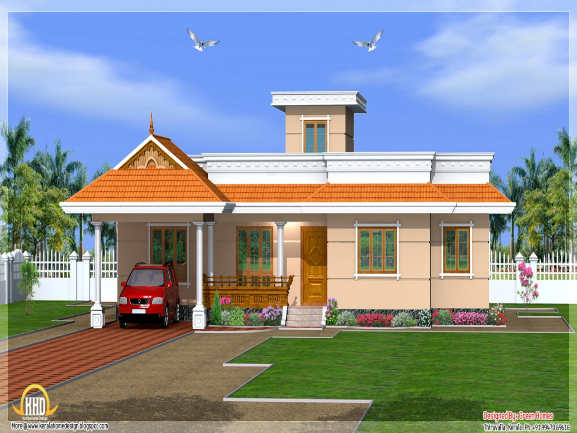 Kerala house designs one story most beautiful houses in kerala 1 story houses - Kerala beautiful house ...