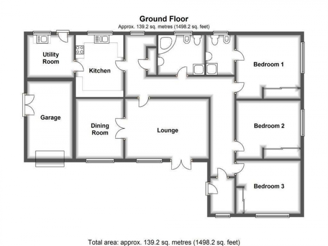 Of plan of 3 bedroom l shaped bungalow wa state pers plan for Small house plans washington state