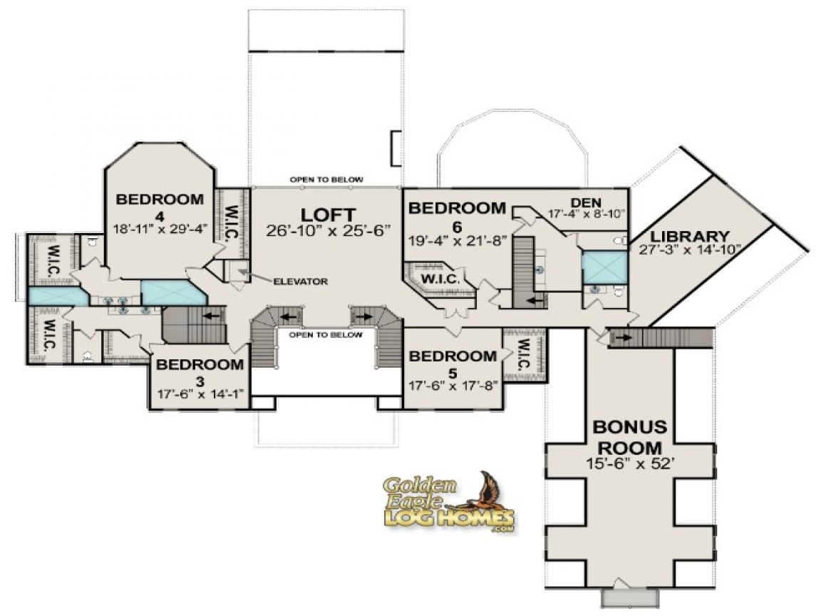 Are the telluride rustic log cabin floor plan luxury for Log cabin floor plans and pictures