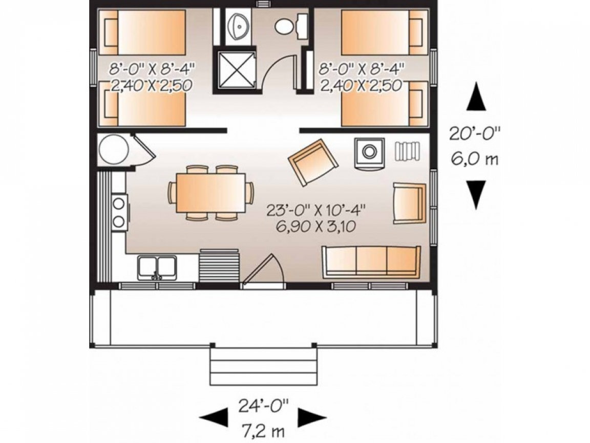 Country house plans with porches country house plan two for 2 bedroom country house plans