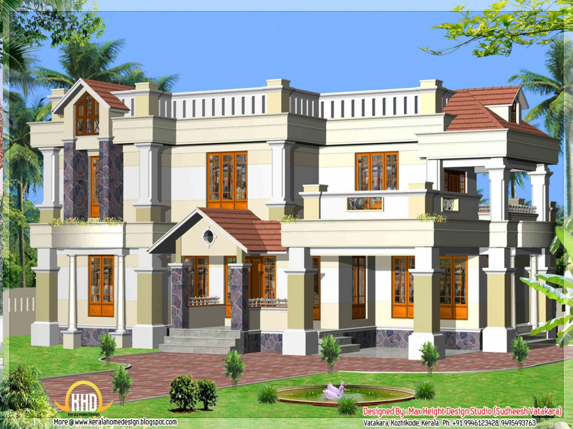 Elevation kerala style houses names of different style for Different elevations of house
