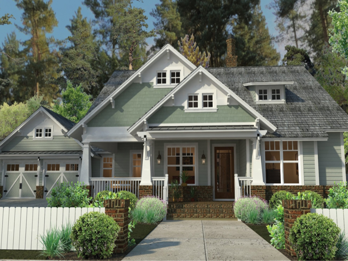 Craftsman style house plans with porches craftsman house for Small craftsman home plans