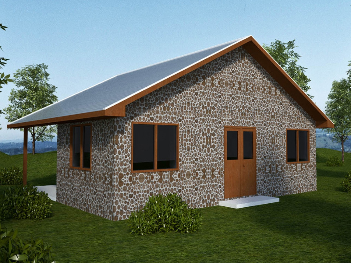Earthbag house plans home cordwood house plans small for Small home construction plans