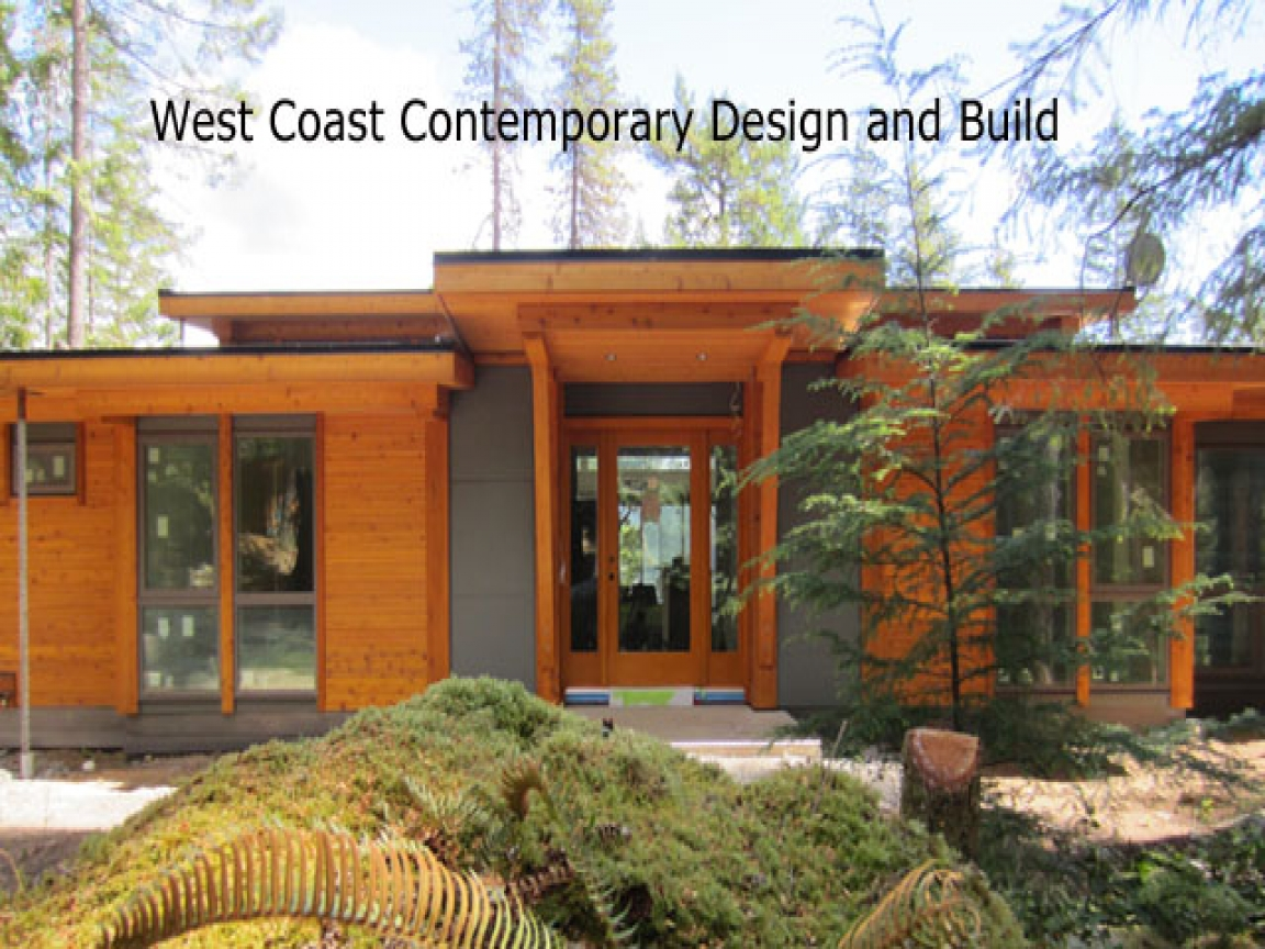 Contemporary timber frame homes small timber frame homes for West coast home plans