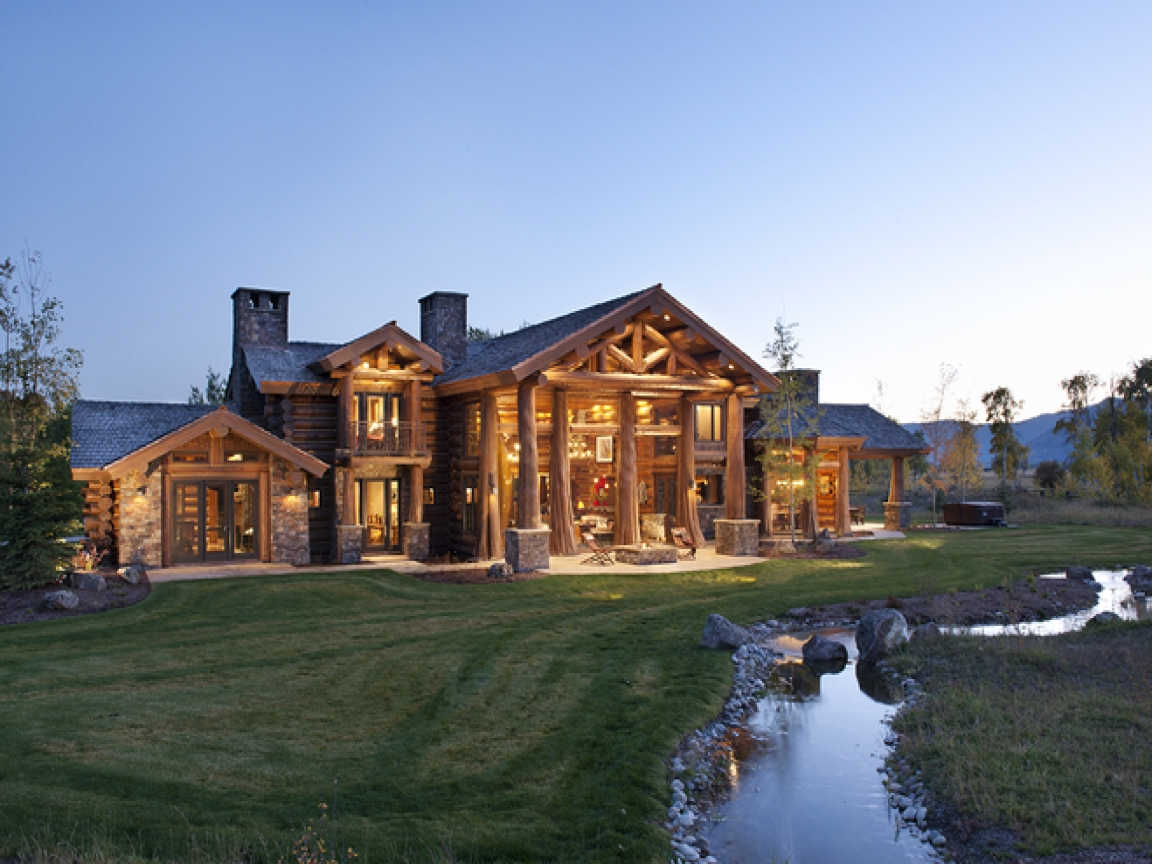 Luxury log cabin home luxury mountain log homes luxury for Luxury mountain home plans