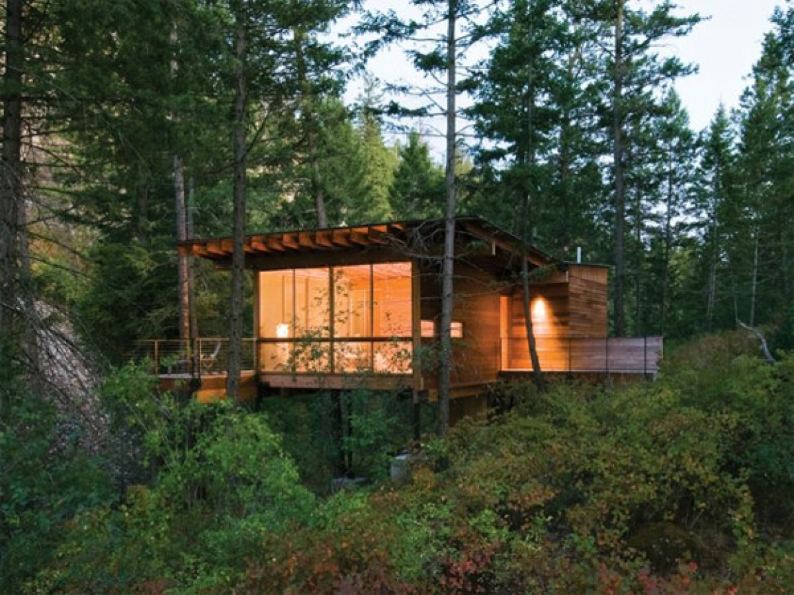 1000 Ideas About Small Cabin Plans On Pinterest: Modern Lake Cabin Small Modern Prefab Cabins, Modern Cabin