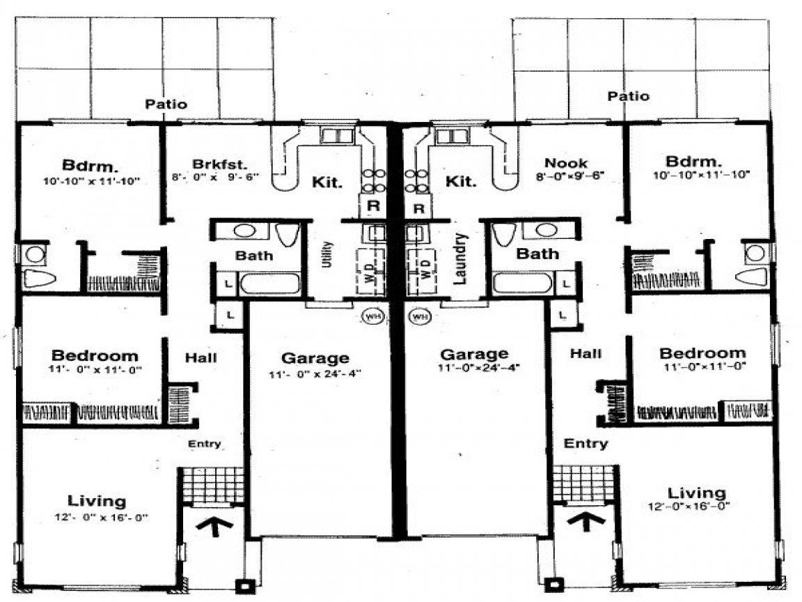 Small two bedroom house plans house plans with two master bedrooms one room home plans - Small one bedroom house plans ...