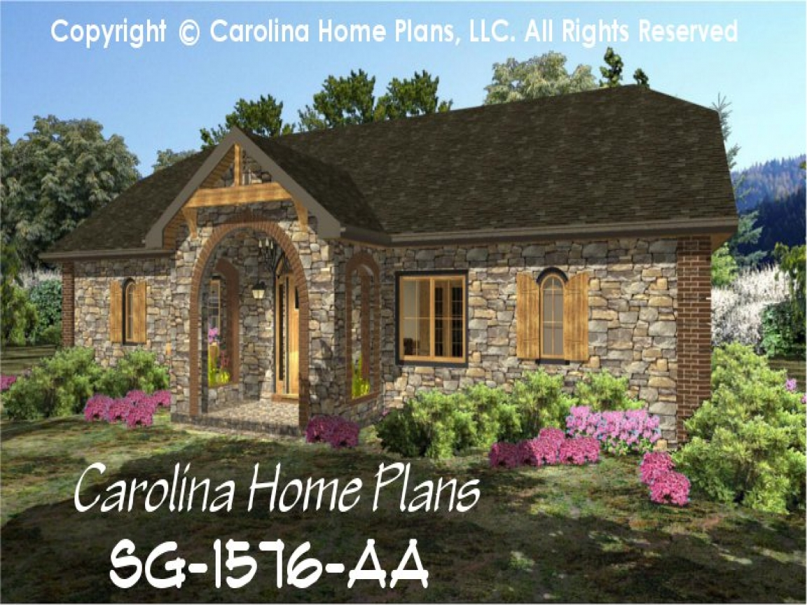 Small stone cottage house plans cottage style homes for Stone cottage home plans