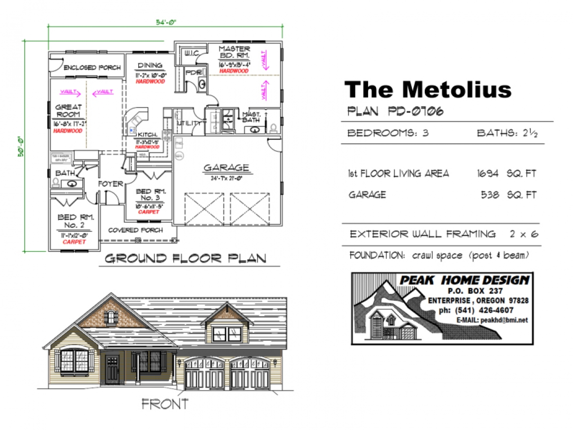 Real estate metolius oregon the metolius oregon house plan for Oregon house plans