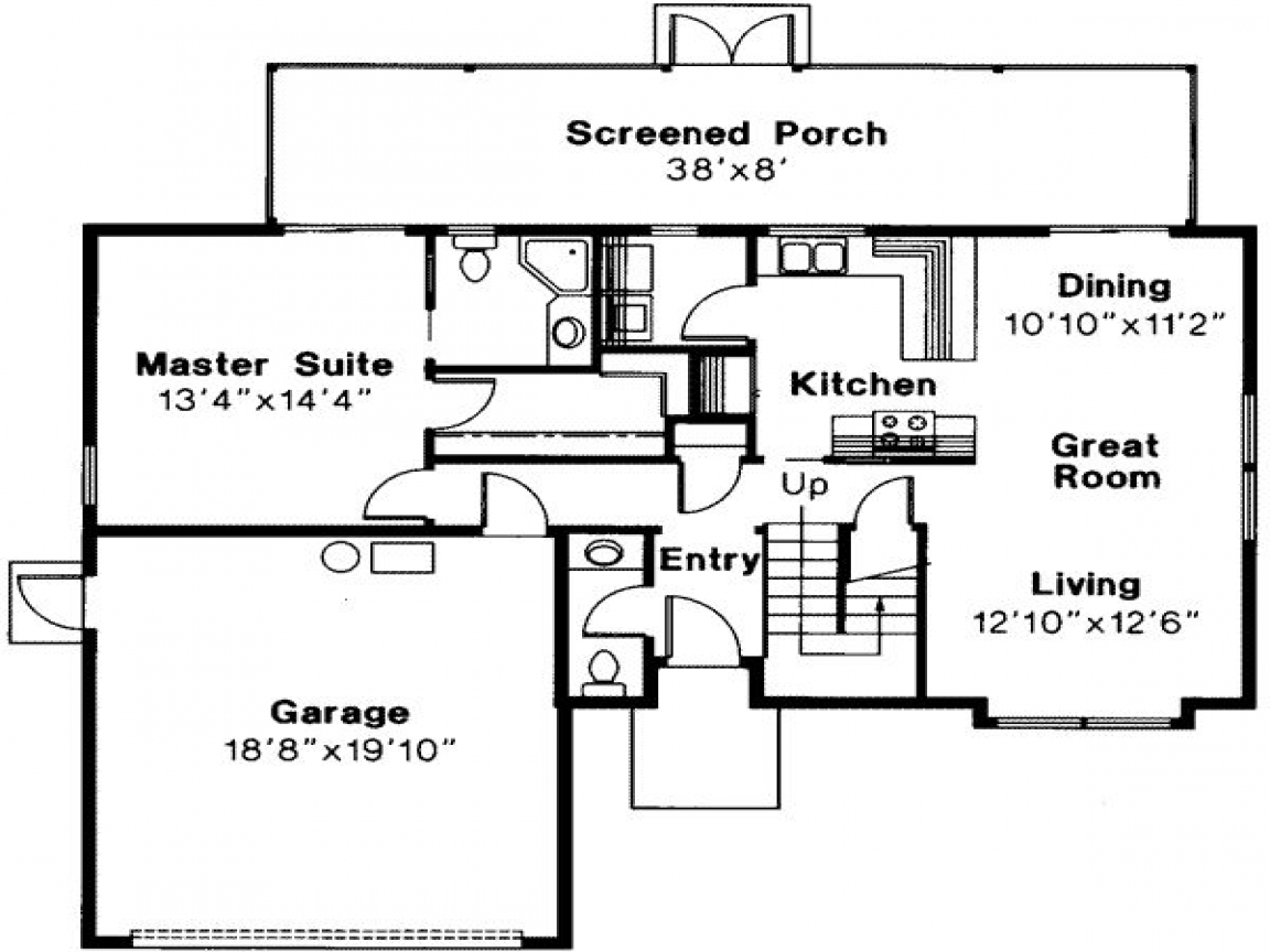 Small House Plans 3 Bedrooms 3 Bedroom Floor Plans with ...