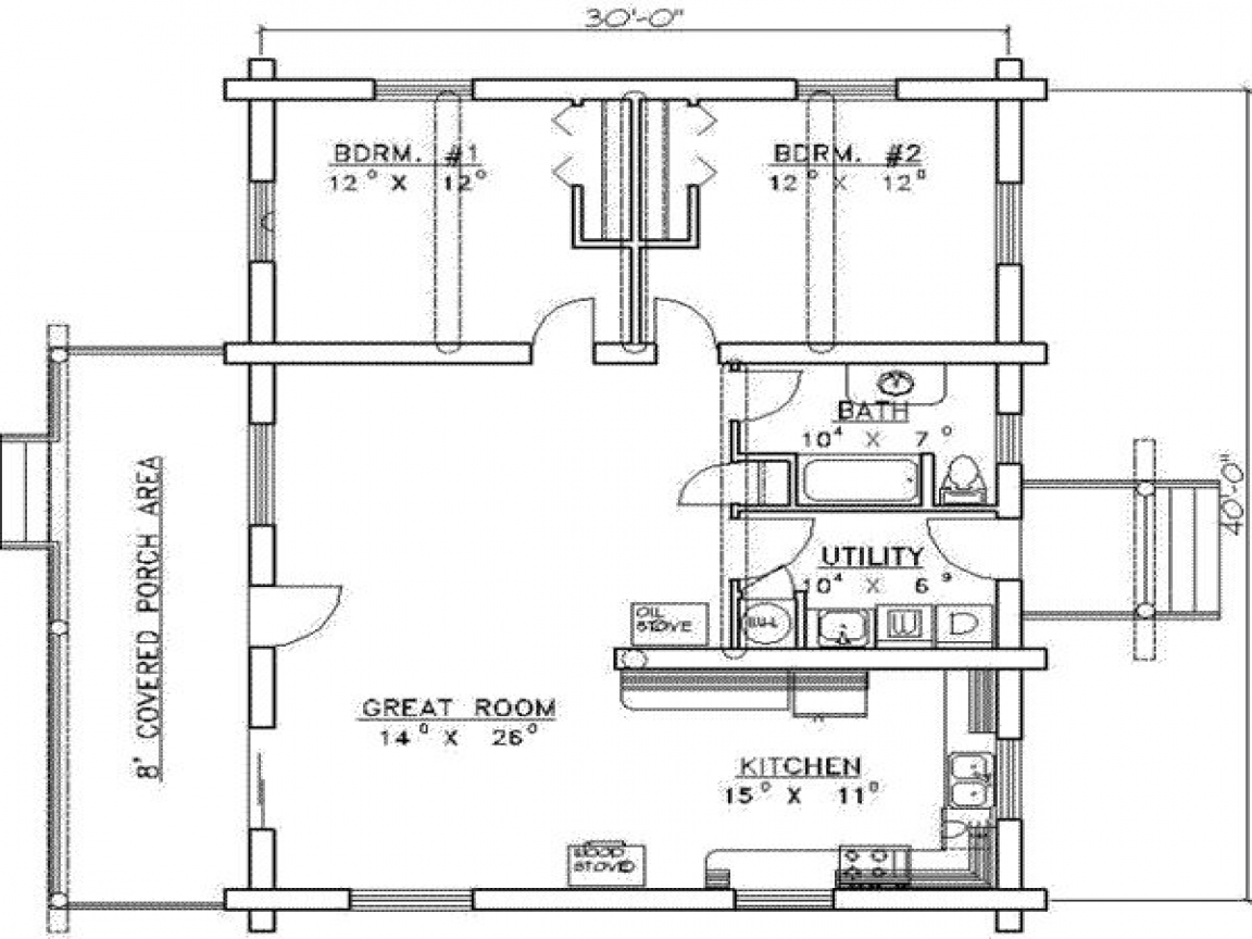 1200 sq ft house plans 2 bedrooms 2 baths 1200 sq foot for 1200 sq ft cabin plans