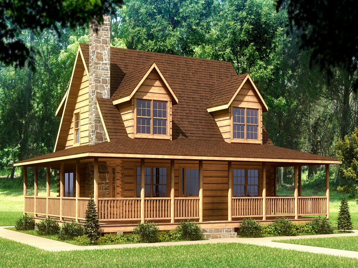 Small log cabin homes log cabin home house plans cabin for Lodge home designs