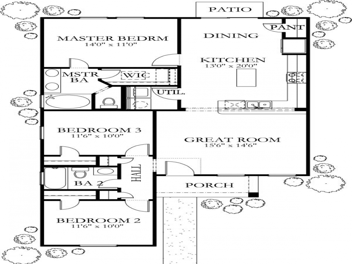 1200 sq foot house plans 1200 sq ft house plans 2 for House plans under 1400 sq ft