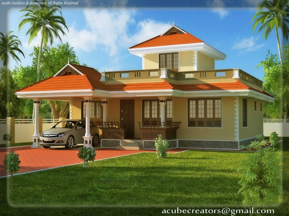 Beautiful house plans rear view house beautiful plans in for Beautiful house view