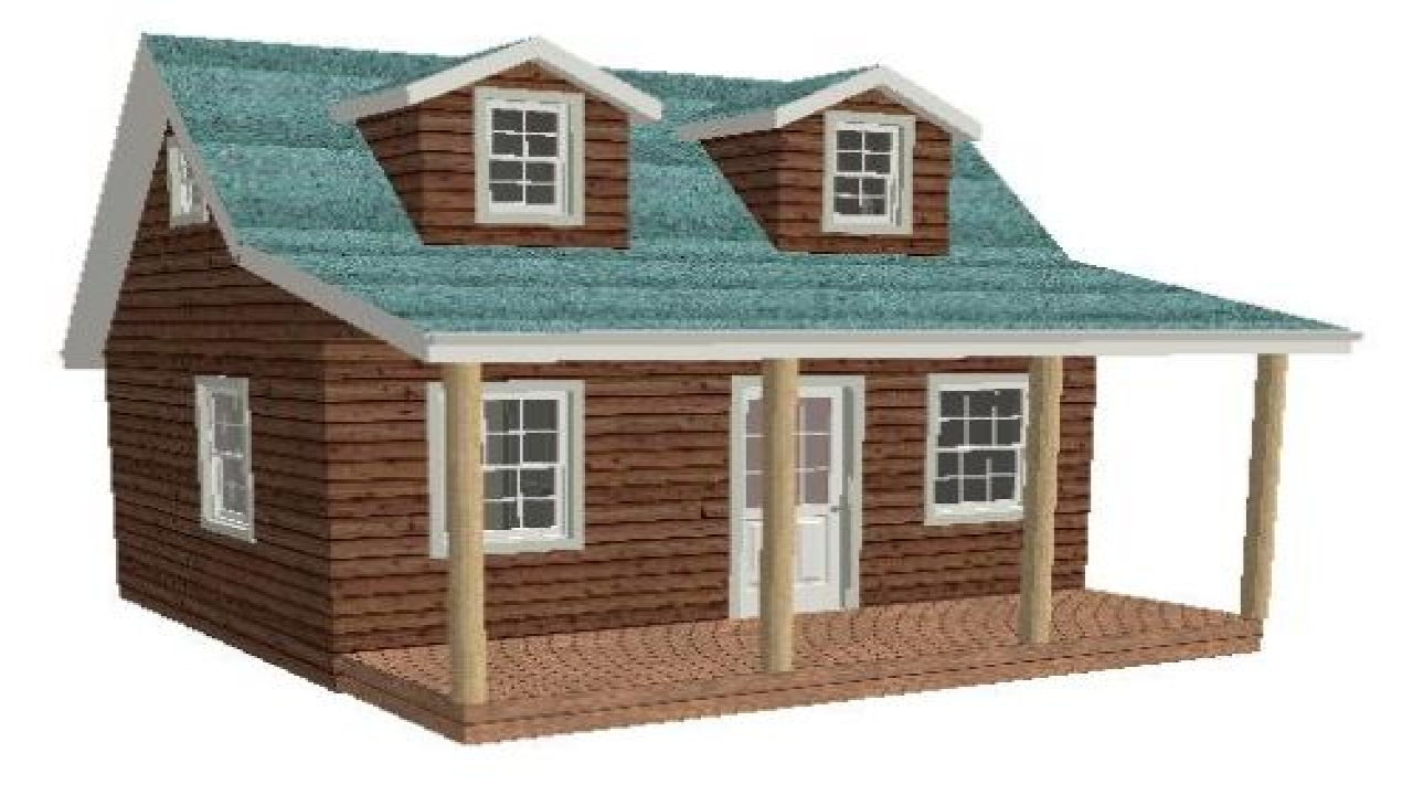 16 by 20 floor plans 16x20 cabin plan with loft 20x20 for Floor plans 20 x 20 cabin