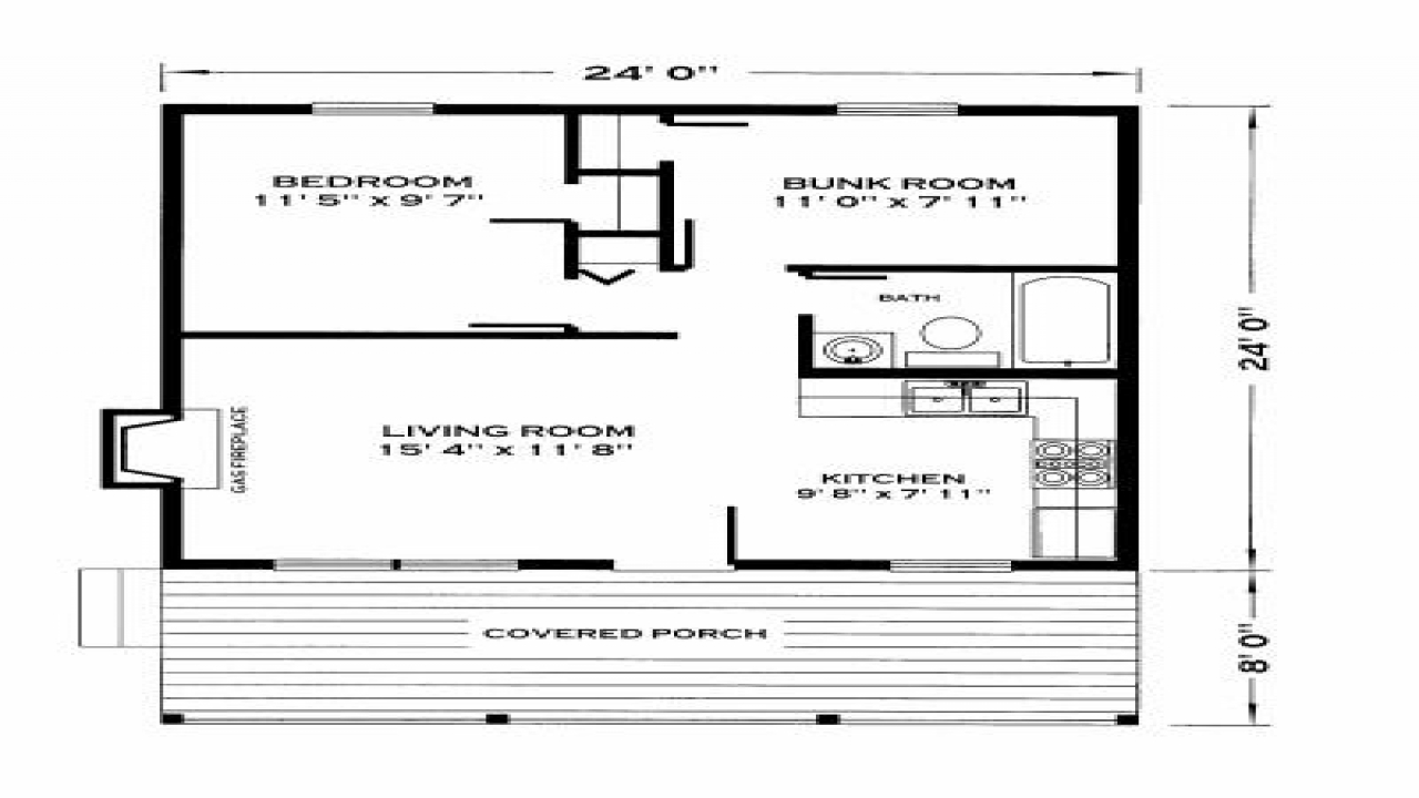 Small cabin floor plans small cabin house floor plans for Hunting cabin floor plans free