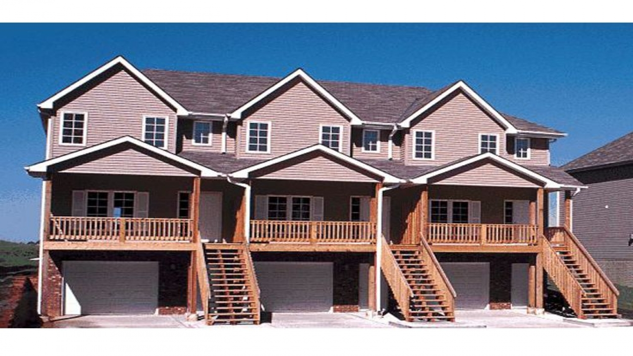Townhouse With Garage Single Family Townhouse Plans