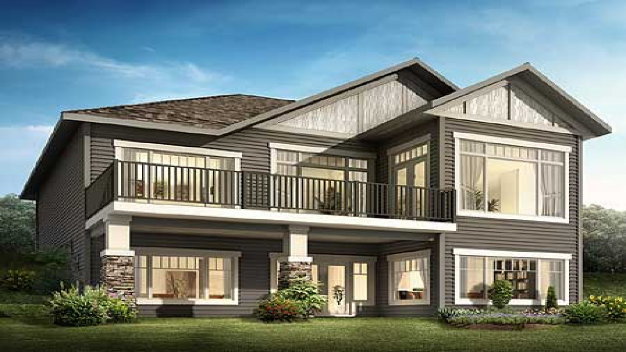 Frame a sloping lot plans front sloping lot house plan for House plans for sloped land