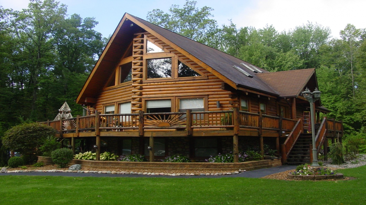 Log cabin home big log cabin homes plans for log homes for Large log cabin homes