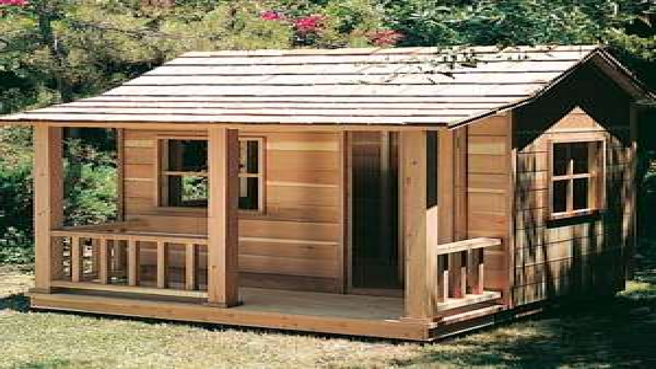 Playhouse with loft plans wooden playhouse plans design for Design your own cabin