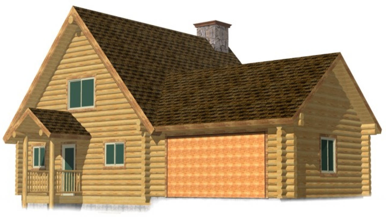 Cabin old log log cabin with attached garage log cabin for Log home garage kits