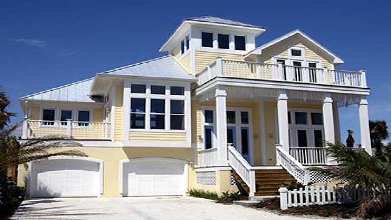 Coastal beach house plans on pilings beach girl coastal for Coastal home plans on pilings