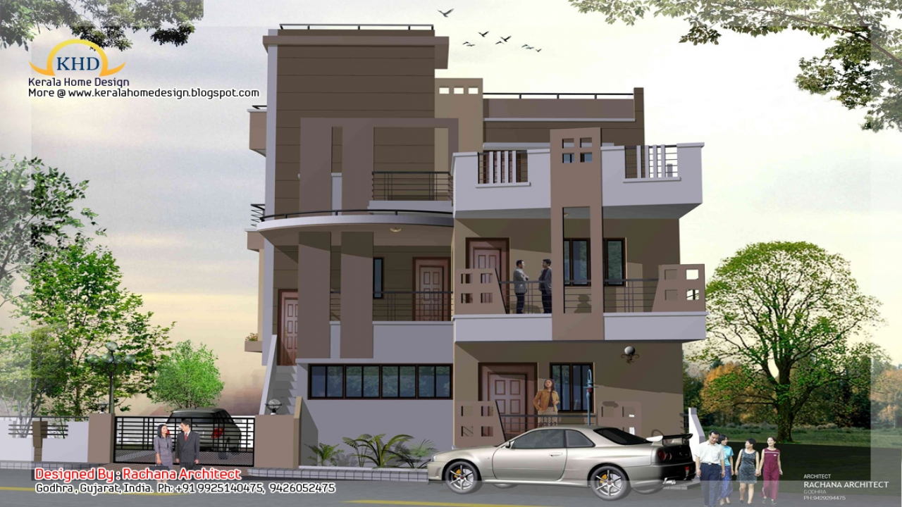 Modern 1 story house small 3 story house plans three for House planns
